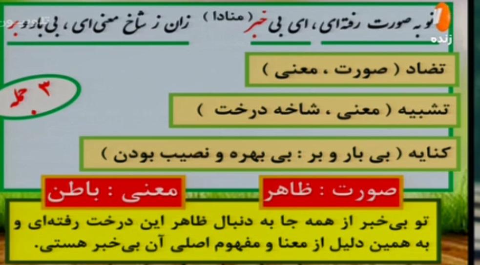 پایه ششم ابتدایی (شبکه آموزش) فارسی و نگارش - درک مطلب / ۲ بهمن