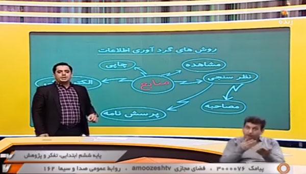 پایه ششم ابتدایی (شبکه آموزش) تفکر و پژوهش - پاسخ به سوالات / ۳ بهمن